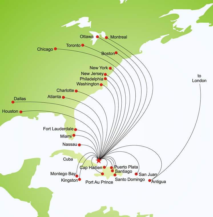 TCi access route map