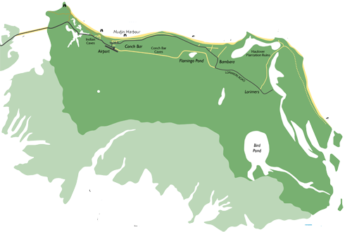Middle Caicos Map
